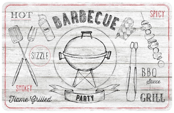 Table mat Barbecue White