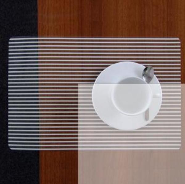 Table mat Stripes Weiss