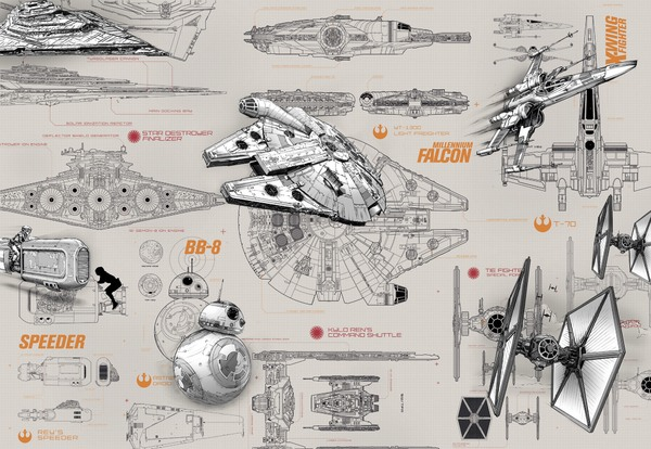 8-493 Star Wars Blueprints
